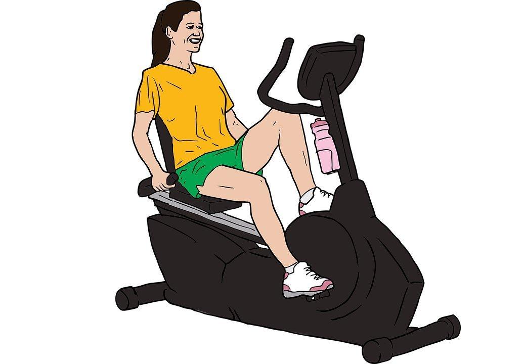 cyclette con schienale