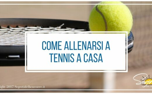 come allenarsi a tennis in casa