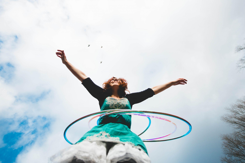 hula hoop per dimagrire donna
